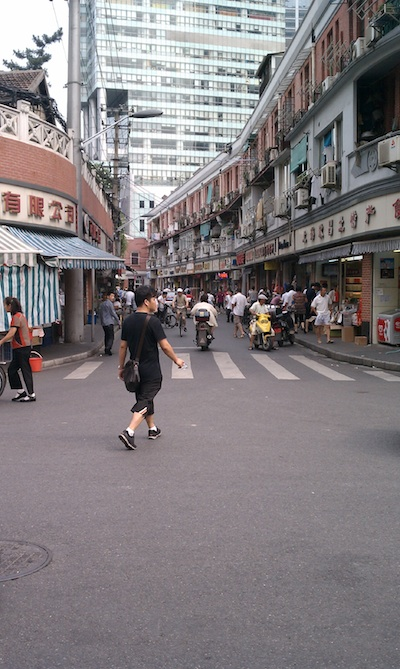 One of the wider streets in Shanghai - PHOTOS: A Sweltering Summer Stay in Shanghai - Frayed Passport